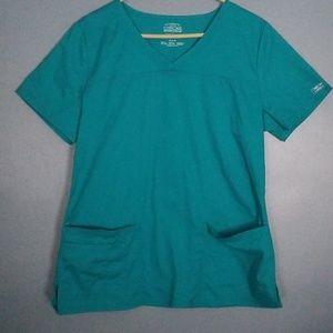 Cherokee workwear core stretch scrub top medium